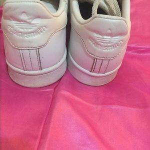 Adidas Stan Smith Shoes - All White Mens 7.5/W 9